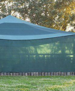 Árnyékoló háló ár , belátásgátló zöld színben 4 méter széles 70%