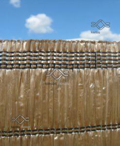 100 %-os árnyékoló háló barna színben korlátra