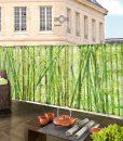 Dekoratív árnyékoló árkorlátra, bambusz mintás molinó korlátra