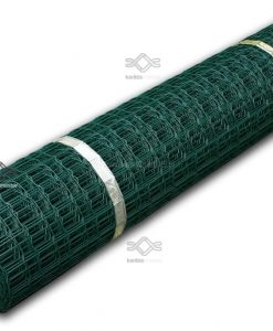 Erős ponthegesztett drótháló zöld színben kutyásoknak