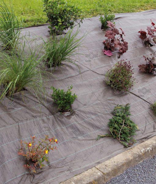 Erős, rézsű növény fólia, szőtt talajtakaró agroszövet gyomosodás ellen
