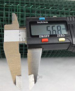 Horganyzott kalitka drótháló,zöld színben kalitka rács 6,4×6,4 mm