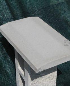 Kúpos beton kerítés fedlap kerítés lábazatra