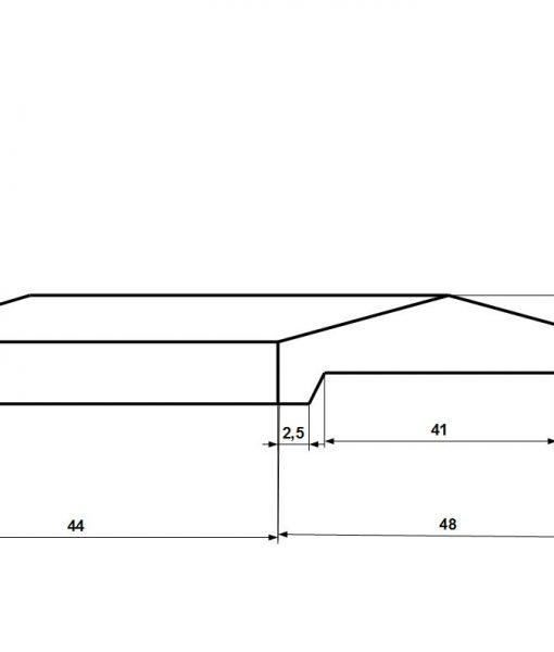 Kerítés fedkő 38x38-as pillére