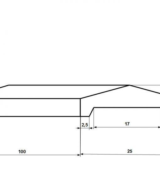 Kerítés fedlap 15-ös falra