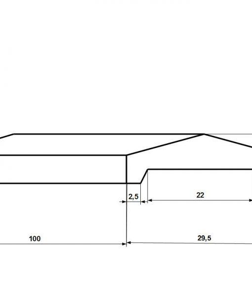 Kerítés fedlap 20 -as falra