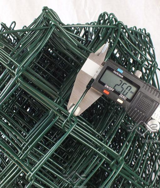 Műanyag drótfonat, sötétzöld pvc bevonattal (2)