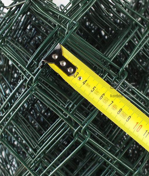 Műanyag drótfonat, sötétzöld pvc bevonattal (3)