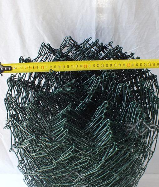 Műanyag drótfonat, sötétzöld pvc bevonattal