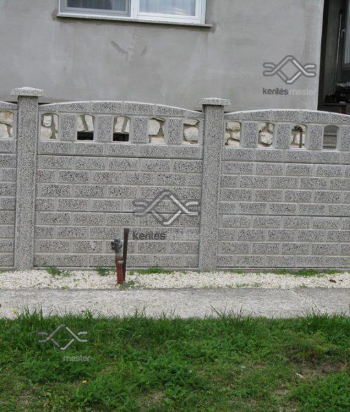 Műkő kerítés íves kivitelben 2