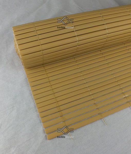 Ovális műnád kerítés ár, műanyag nádszövet kerítés ovális profillal, bambusz színben