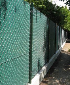 Ovális műnád kerítés ár, műanyag nádszövet kerítés ovális profillal, zöld színben