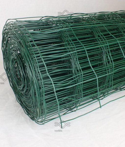 Ponthegesztett kerítésdrót zöld pvc bevonattal