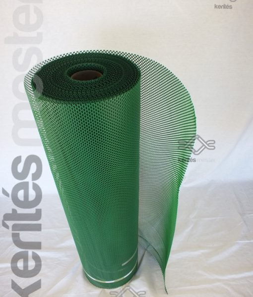 Széltörő és térelválasztó műanyag zöld rács
