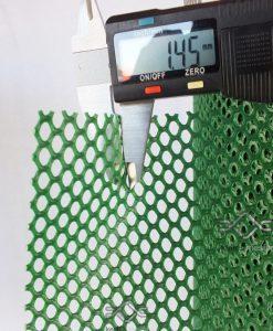 Széltörő műanyag rács zöld