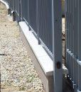 Szürke műkő kerítés fedlap kétoldali lejtéssel 5-7 cm vastag vízorral (6)
