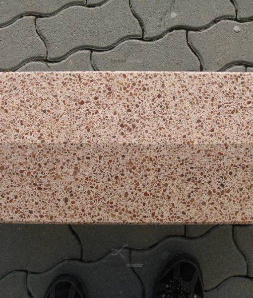 Téglavörös műkő kerítés fedlap kétoldali lejtéssel 5-7 cm vastag vízorral
