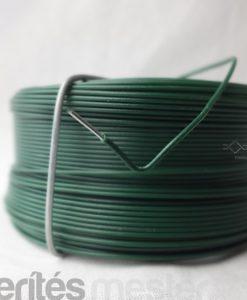 Zöld pvc bevonatú közöző drót