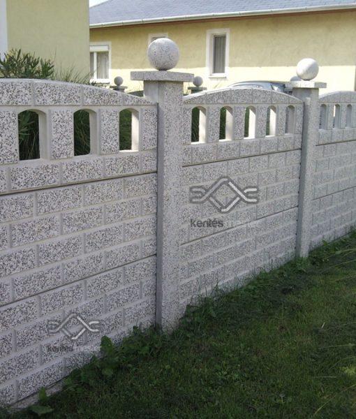 műkő kerítés íves kivitelben