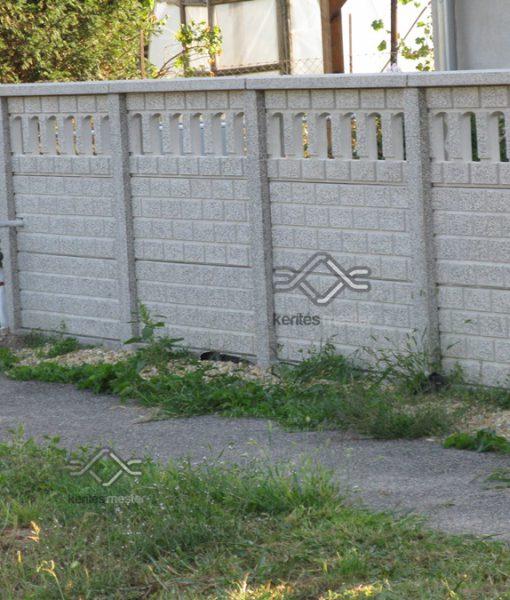Műkő kerítés egyenes kivitelben