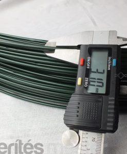 zöld pvc bevonatú feszítő drót, vezérdrót