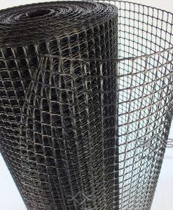 Fekete kerti térelválasztó műanyag négyszögletes rács 10 x 10 mm