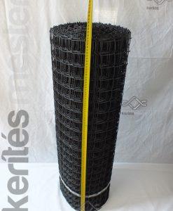 Fekete műanyag rács lyukméret 44 x 44 mm