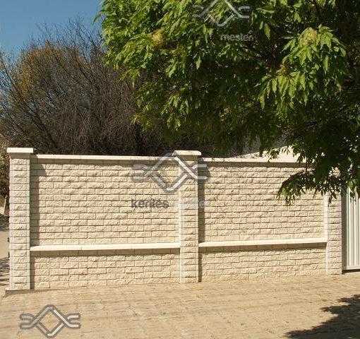 Colonia zárt kerítés mező falazó beton elem