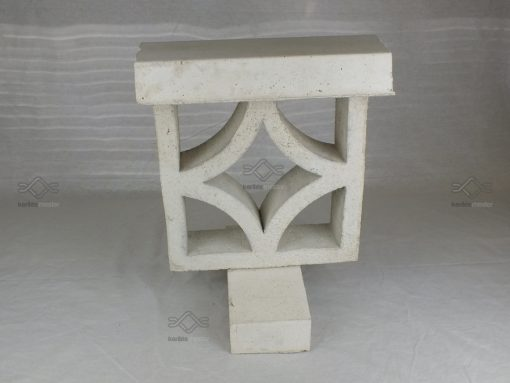 Kerítés falazó elem lezáró kerítés fedlap 8 cm elem szélességig fehér színben