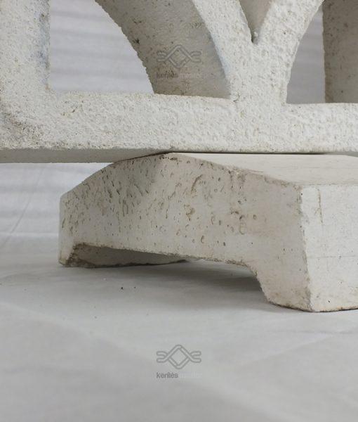 Kerítés falazat indító fehér beton fedlap