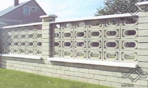 Lefkada kerítés mező falazó beton elem