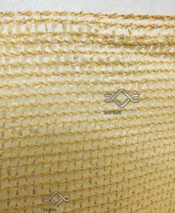 80 %-ban belátásgátló homok színű árnyékoló háló kerítésre