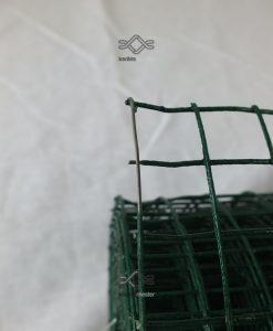Horganyzott kalitka drótháló, kalitka rács 12,7x12,7 mm zöld pvc bevonattal