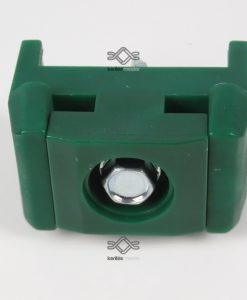 zöld műanyag rögzítőbilincs 60x40-es oszlophoz