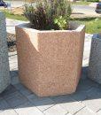 Hatszög beton virágtartó edény