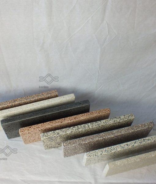 Műkő kerítés fedlap 5 cm vastag szürke, barna, antracit, sárga. vörös, fehér színben