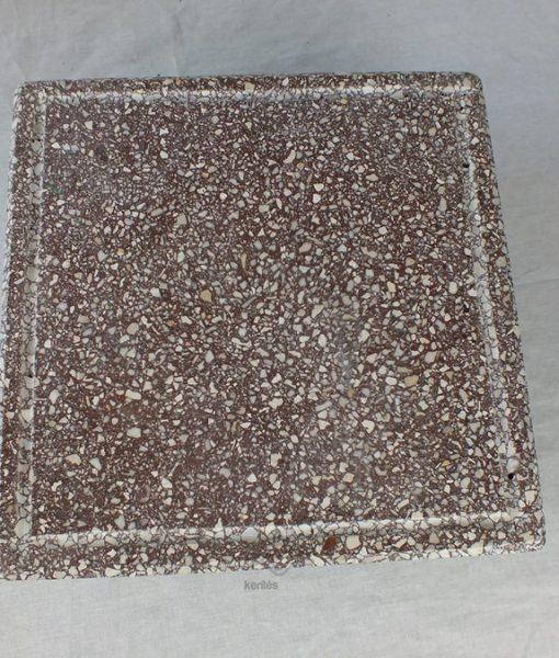 Vasalt műkő fedkő barna színben