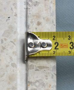 Vasalt műkő kerítás fedlap 3 cm vastag fehér