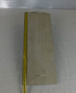 Kúpos beton kerítés fedlap 20cm széles szürke ár kerítés lábazatra falra