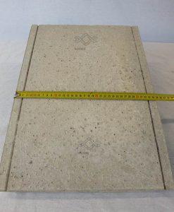 Kúpos beton kerítés fedlap 35cm széles szürke ár kerítés lábazatra falra