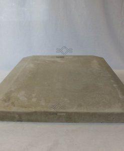 Kúpos beton kerítés fedlap 50 cm széles szürke ár kerítés lábazatra falra