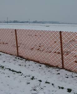 Hófúvás elleni háló, hófogó rács