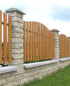 Ombrello beton kerítés fedkő pillérre szürke