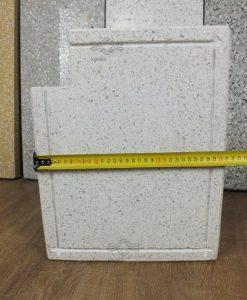 Vasalt műkő kerítés fedlap 3 cm vastag fehér színű